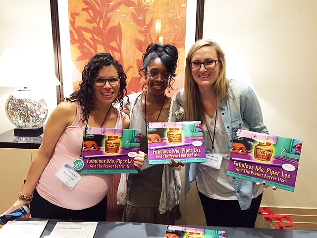 Tolya with allergy advocates, Stephanie Labile & Sophia McCarthy